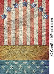 u.s.a., trabajo, bandera, 4, julio, día