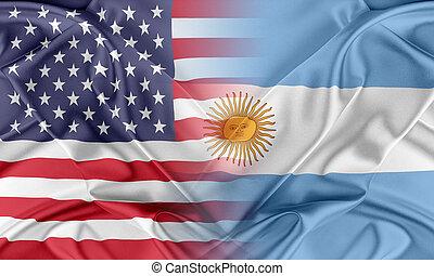usa, und, argentinien