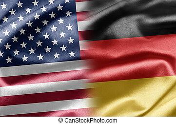 usa, und, deutschland