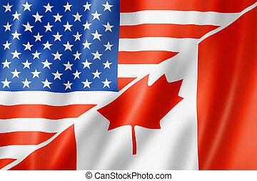 usa, und, kanada kennzeichen