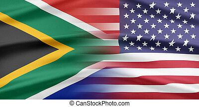 usa, und, südafrika