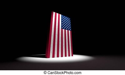 USA US collapse flag United States of America American