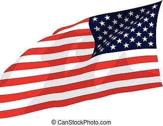 USA, US waving flag vector