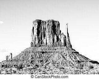 usa., utah, monument, butte, vallée, moufle