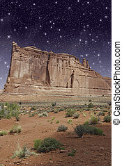 u.s.a., valle, notte, monumento