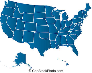 USA vector map - United States of America Vector Map....