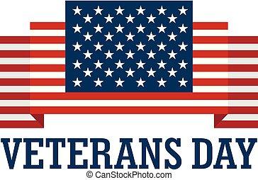 Usa veterans day logo, flat style - Usa veterans day logo....
