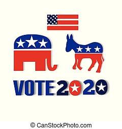 USA vote 2020 icon vector