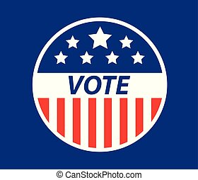 USA Vote badge vector illustration EPS10