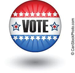 USA vote sign