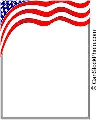 USA wave flag border.