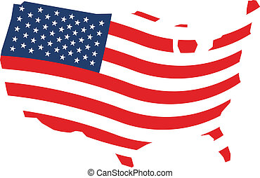 Usa patriotic stars and stripes map 3d july 4th 3d stock usa wave stars and stripes map publicscrutiny Choice Image