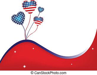 USA Wavy Background