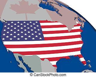 USA with flag