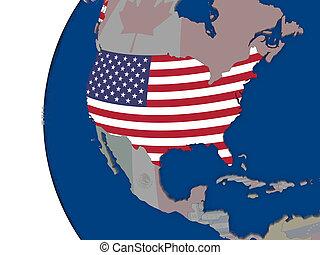 USA with national flag