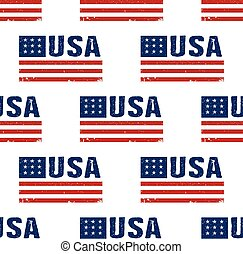 USA word flag pattern backgrouond. Seamless