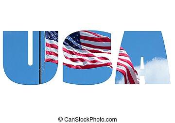 USA word