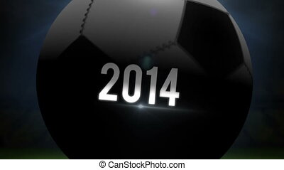 USA world cup 2014 animation with football on black...