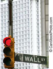 usa, zamiana, wallstreet, nowy york, pień