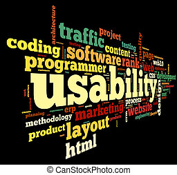 Usability concept in tag cloud