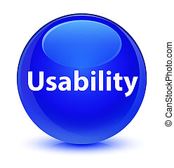 Usability glassy blue round button