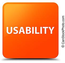 Usability orange square button