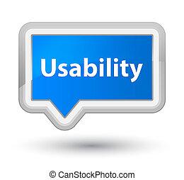 Usability prime cyan blue banner button