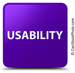 Usability purple square button