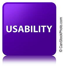 Usability purple square button