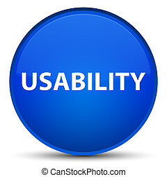 Usability special blue round button