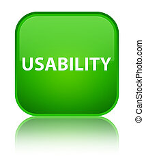 Usability special green square button