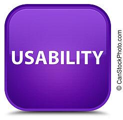 Usability special purple square button