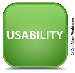 Usability special soft green square button