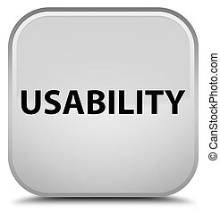 Usability special white square button