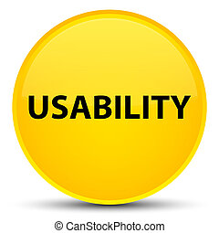 Usability special yellow round button