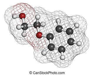 usado, molecule., cosméticos, vacina, phenoxyethanol,...