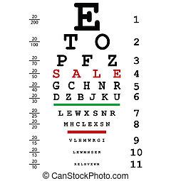 usado, olho, vendas, óptico, anunciando, doutores, teste