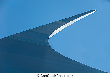 One of the three towers curves into the air at the United States Air Force Memorial.