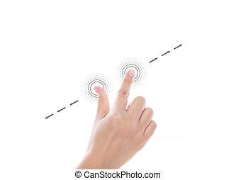 usage, écran, multi-touch, main, gestes, toucher, tablettes,...