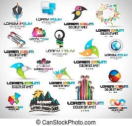 usage, éléments, 17, résumé, collection, élevé, project., conception, qualité, ton
