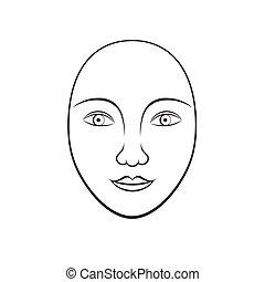 usage, coloration, simple, cosmétique, figure, humain,...