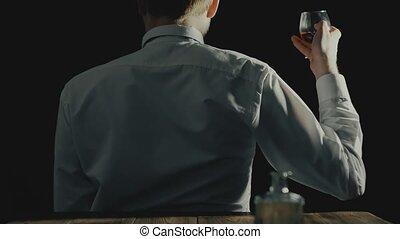 usage, concept, alcool, alcoolique, dos appareil-photo, ...
