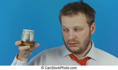 usage, concept, alcool, argent, boisson, ou, verre, désordre...