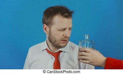 usage, concept, alcool, boisson, démon, ou, diable, donne, ...