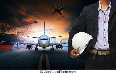 usage, fonctionnement, industrie, exportation, logistique, vaisseau, importation, bateau, port, transport, homme
