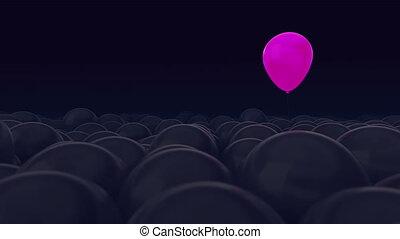 usage, opposé, facile, titre, all., balloon, changement, balloons., idéal, texte, pourpre, sombre, contre, personality., autre, ideas., color., concept, arrière-plan., rose, beaucoup, masque, une