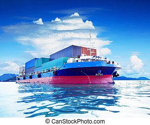 usage, récipient, naval, commercial, busine, transport,...