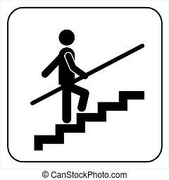usage, rampe, signe