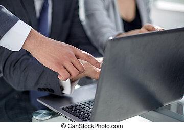 usages, business, fin, équipe, up.the, travail, ordinateur portable
