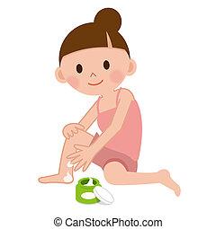 usando, donna, moisturising screma